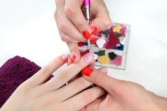 Traitement de beauté des ongles Photo stock