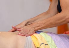 Traitement 1 de massage de corps de station thermale photos stock
