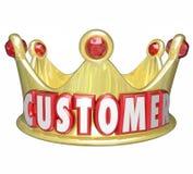 Traitement de roi VIP de haute priorité de couronne d'or de client Photos stock