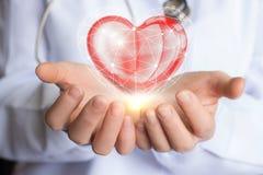Traitement de soin et appui du coeur Images libres de droits