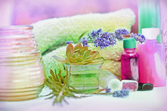 Traitement de station thermale - Aromatherapy Photos libres de droits