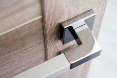 Traitement de trappe avec le blocage Poignée de porte pour la porte ou le Cabinet photos libres de droits