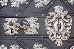 Traitement de trappe en métal Images stock
