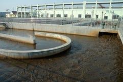 Traitement des eaux résiduaires images libres de droits