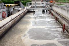 Traitement des eaux résiduaires (graisse) image libre de droits