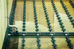 Traitement des eaux usées  Image libre de droits