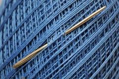 Traitement différé bleu de filé Image stock