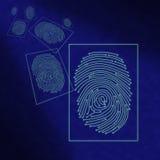 Traitement digital électronique d'empreinte digitale Photos libres de droits