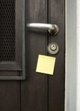 Traitement et post-it Photographie stock libre de droits