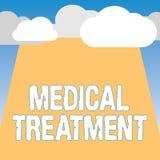 Traitement médical des textes d'écriture de Word Concept d'affaires pour la gestion et le soin d'un patient pour combattre la mal illustration stock