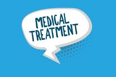 Traitement médical des textes d'écriture de Word Concept d'affaires pour la gestion et le soin d'un patient pour combattre la mal illustration libre de droits
