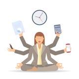 Traitement multitâche A de femme d'affaires Photo libre de droits