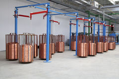 Traitements différés de câblage cuivre Photo stock