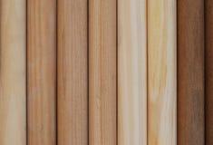 Traitements en bois dans la ligne Image stock