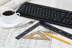 Traites et outils de construction Image libre de droits