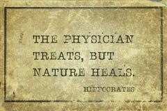 Traitez et guérissez Hippocrate photographie stock libre de droits