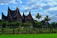Traitionalhuis van Minangkabau bij Daglichtmening royalty-vrije stock foto