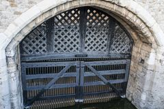 Traitor Gate. At Windsor castle in United Kingdom Royalty Free Stock Images