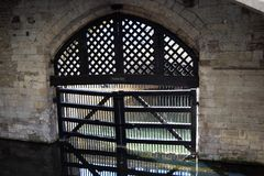 Traitor`s Gate Tower of London. Traitor`s Gate within the grounds of the Tower of London, UK Stock Images