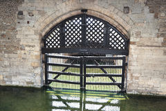 View of Traitors Gate from inside of castle, Tower of London - UK Stock Photography