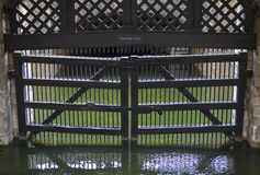Traitors Gate at the Tower of London Royalty Free Stock Photos