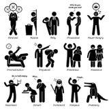 Traits de caractère négatifs de personnalités Clipart Image stock
