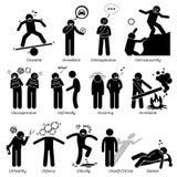 Traits de caractère négatifs de personnalités Clipart Images libres de droits