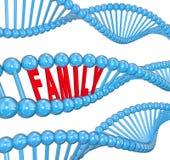 Traits héréditaires de biologie de brin d'ADN de Word de famille Photos stock