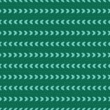 Traits horizontaux des croissants de lune Formes alignées de sarcelle d'hiver sur un fond vert vert Configuration sans joint de v illustration libre de droits