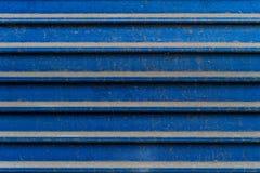 Traits horizontaux en métal poussiéreux bleu grunge - texture/fond de haute qualité photographie stock