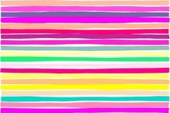 Traits horizontaux modèle de parallèle coloré de gradient, conception vibrante ou créative d'abrégé sur disposition En coupe photo libre de droits