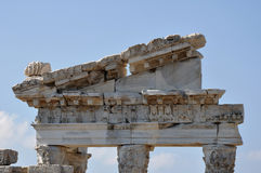Trajan、佩尔加蒙或者Pergamum古希腊市寺庙在Aeolis,现在贝尔加马附近,土耳其 免版税图库摄影