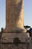 Trajan专栏底部  免版税库存照片