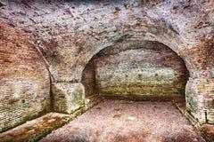 Trajan和Claudius港的考古学挖掘  免版税库存照片