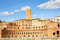 Trajan市场在罗马 免版税库存图片