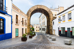 Trajan曲拱在梅里达 免版税库存照片