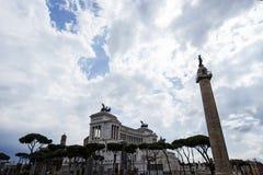 Trajan的专栏 免版税库存图片