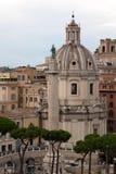 Trajan的列在罗马,意大利 免版税库存照片