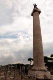 Trajan的列在罗马,意大利 库存图片