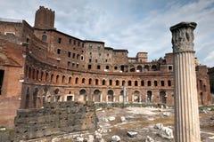 Trajan的市场在罗马,意大利 免版税库存图片