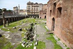 Trajan的市场(Mercati Traianei)在罗马,意大利 免版税库存图片