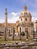 Trajan的论坛罗马意大利 库存图片