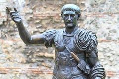 trajan的雕象 免版税库存照片