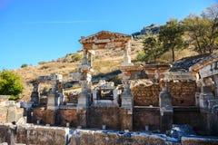 trajan皇帝的喷泉  免版税图库摄影
