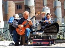 Trajan论坛的吉他弹奏者 免版税库存照片
