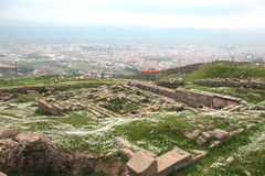 Acropolis of Pergamon in Turkey Royalty Free Stock Images