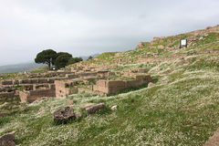 Acropolis of Pergamon in Turkey. Trajan building at Acropolis of Pergamon in Turkey Stock Photography