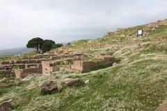 Acropolis av Pergamon i Turkiet Arkivbild
