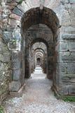 Acropolis av Pergamon i Turkiet Royaltyfria Bilder