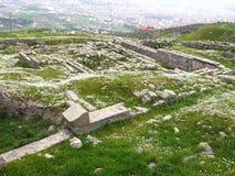 Acropolis av Pergamon i Turkiet Royaltyfri Bild